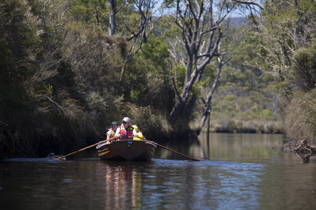 Rowing the Egg Island Canal