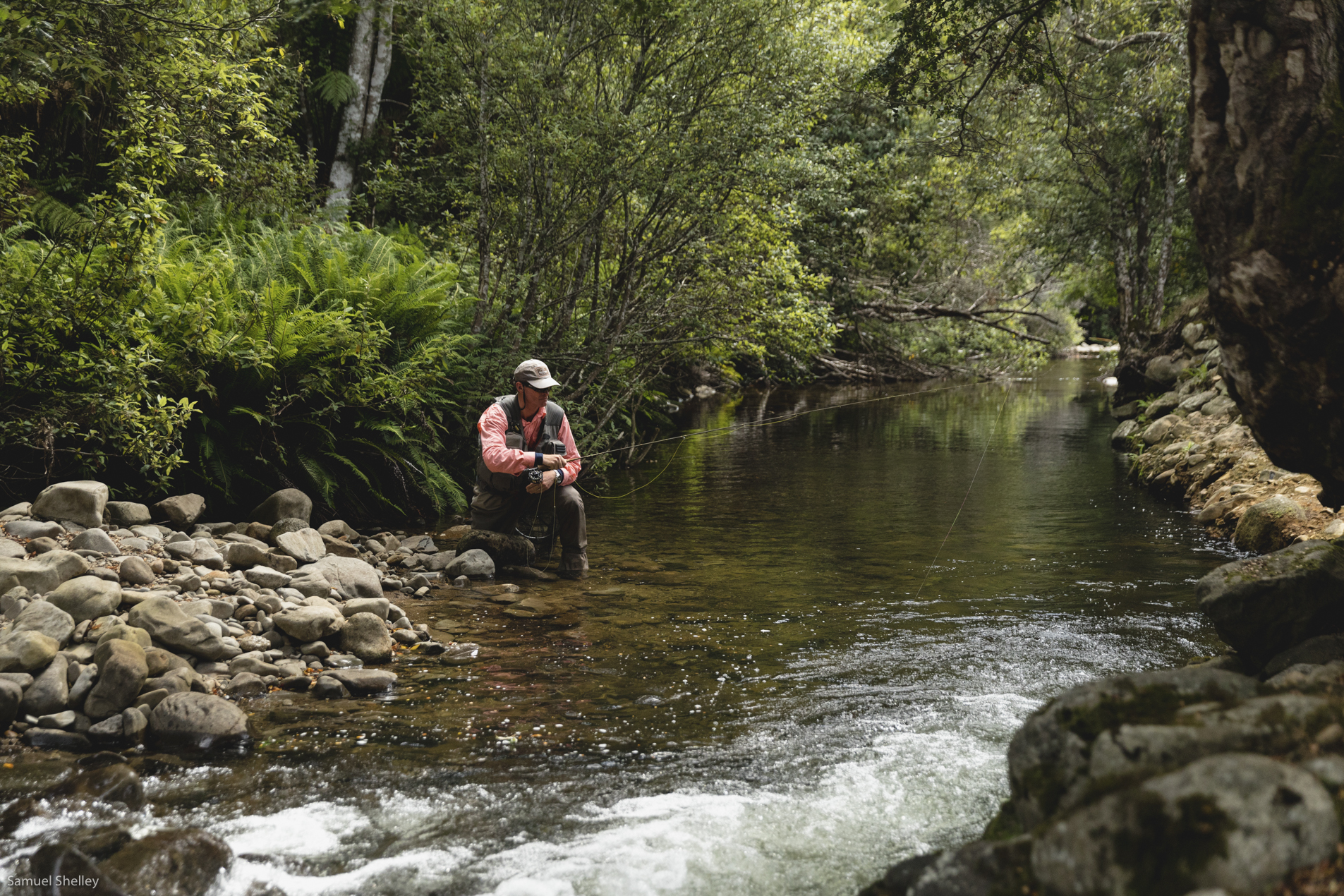 Fly-fishing in Tasmania