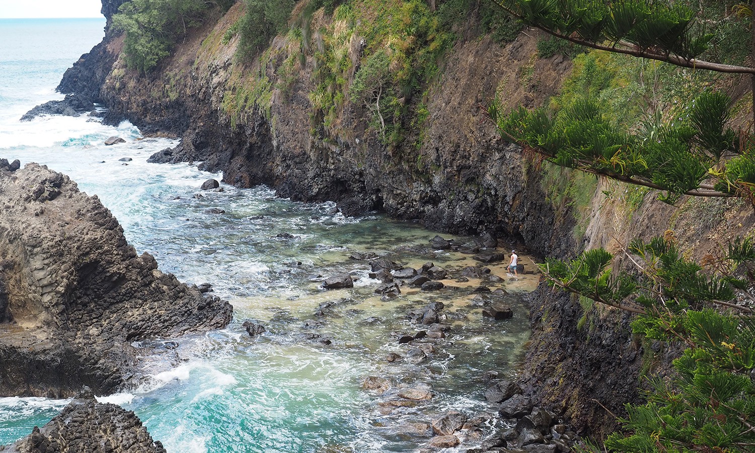 They may be difficult to access, but Anson Bay's rock pools are worth the hike.