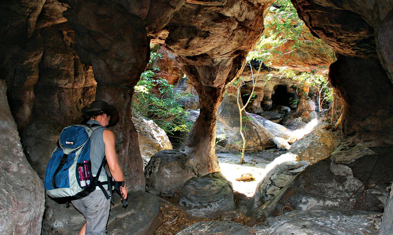 Clare Wallwork, Davidson's Arnhemland Safaris guide, walks us through the catacombs