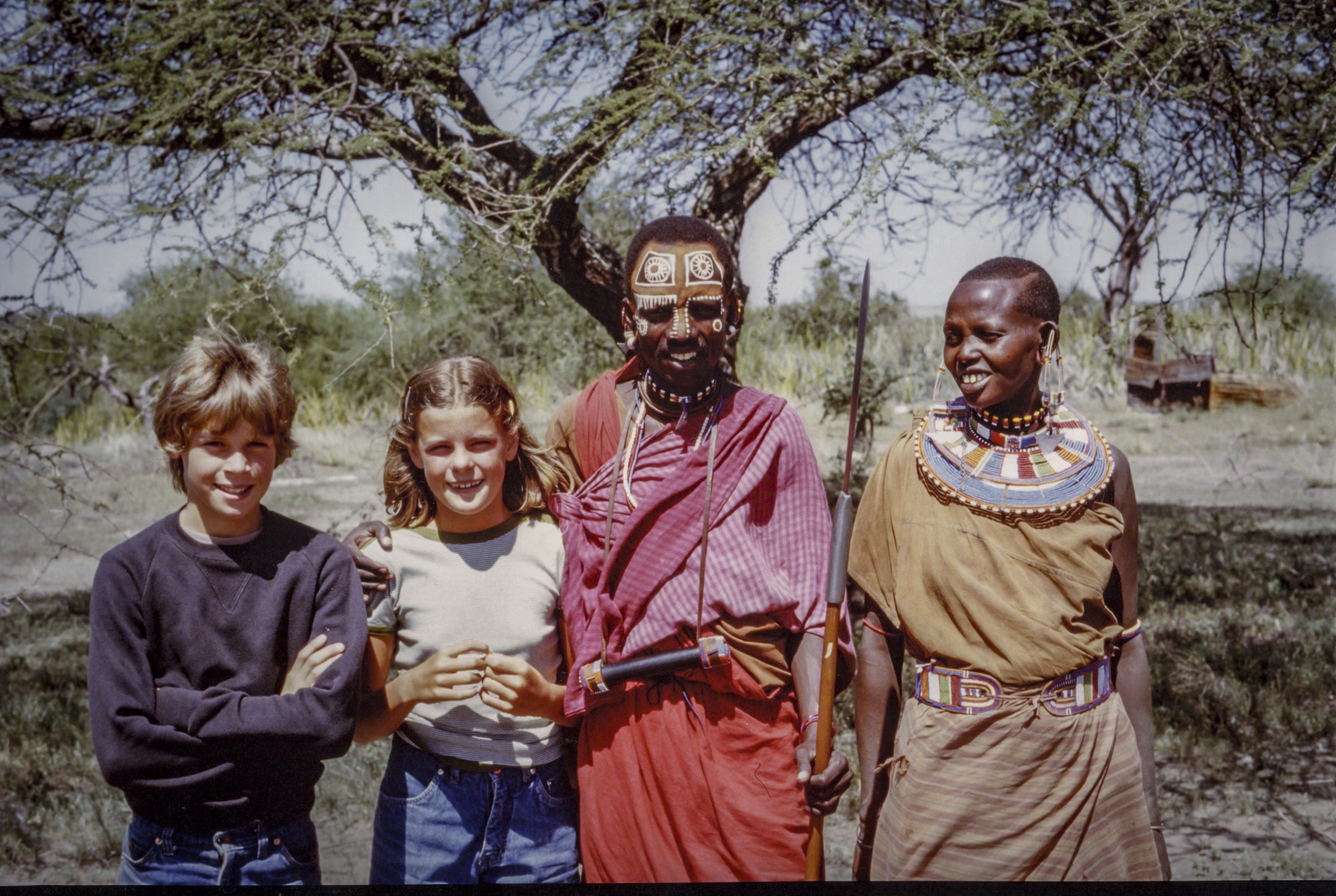 Jane Arthur with the Masai in the 1980s